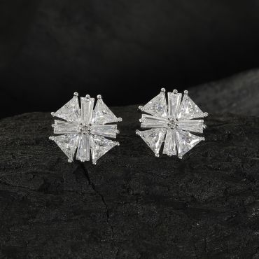 Silver Fashion Tops Earring