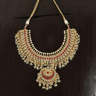 Ruby Kundan Necklace Set