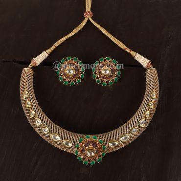 Kundan AAD Hasli style necklace