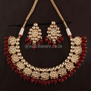 Artificial Kundan Ruby jewellery Set Online