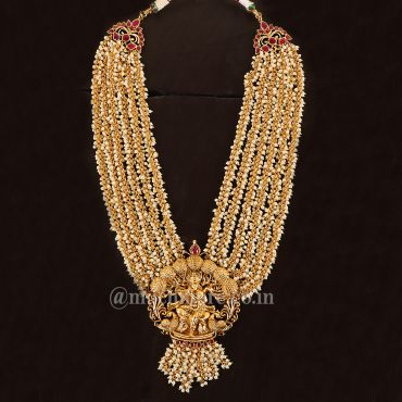 Pearl Inspired Lord Krishna Layered Long Necklace
