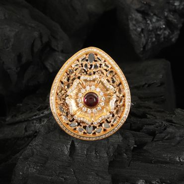 Diamond Zircon Cocktail Finger Ring
