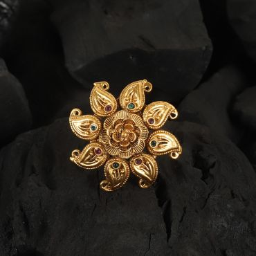 Adorable Polki Ambi Shaped Ring