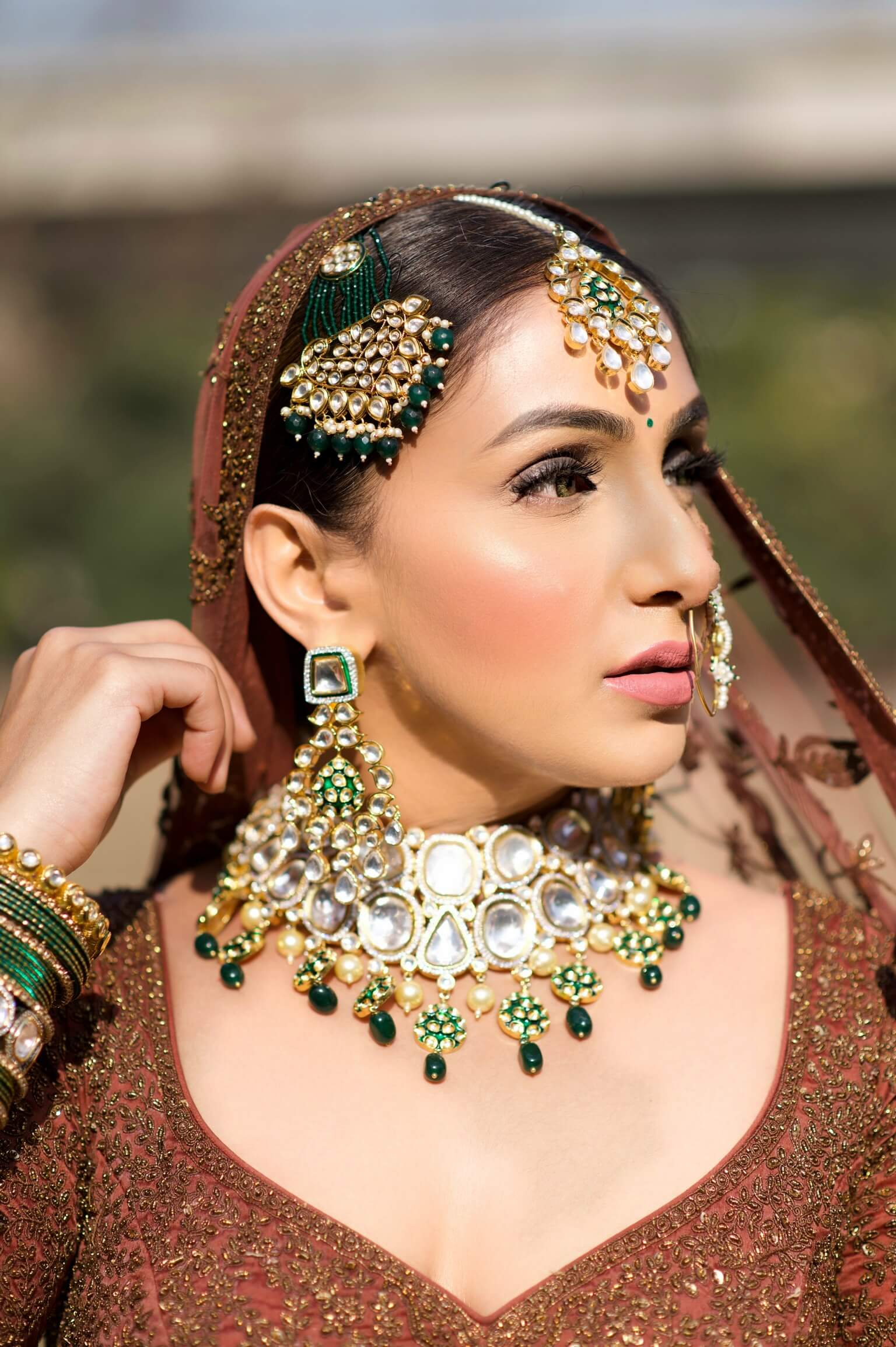 Manleen Puri in exclusive bridal collection